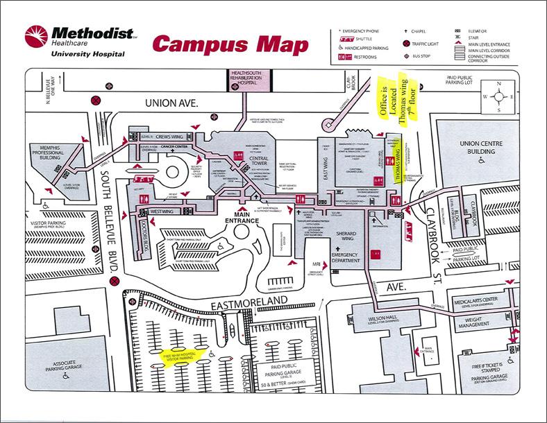 MethodistUniversityHospitalMap